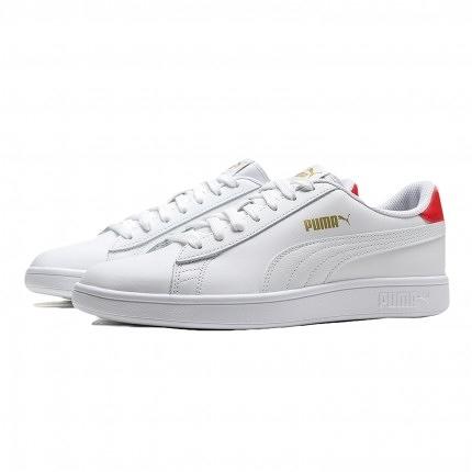 PUMA SMASH V2 L 男女款白紅色休閒鞋-NO.36521517