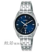 ALBA 雅柏 簡約設計女錶-銀X藍