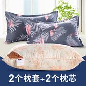 枕頭枕芯一對成人正品護頸椎枕單人雙人男女生宿舍一只裝整頭家用