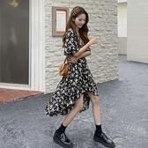 法式碎花連身裙女夏季新款復古設計感小眾初戀超仙氣質長裙子 韓美e站