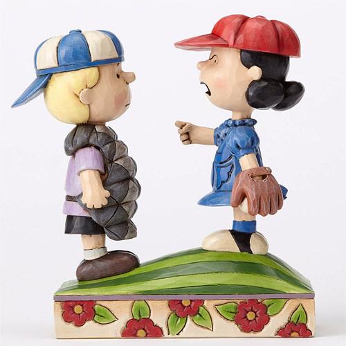 《Enesco精品雕塑》SNOOPY 謝羅德與露西打棒球塑像-Mound of Trouble(Peanuts by Jim Shore)_EN87779
