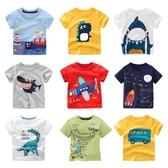 夏季新款男童短袖T恤兒童寶寶純棉上衣舒適打底衫中小童寬鬆半袖 嬌糖小屋