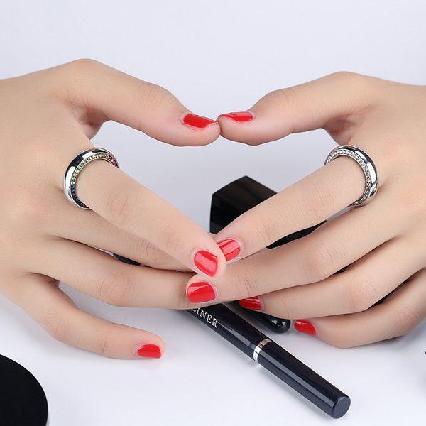 白鋼戒指 水鑽戒指 女生戒指 生日禮物 情人禮物 經典彩鑽 單只價【BKS595】Z.MO鈦鋼屋