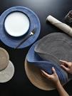 4片裝日式圓形餐墊西餐墊創意餐桌墊家用北歐盤墊碗墊杯墊隔熱墊 滿天星