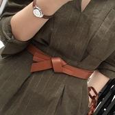 女士腰帶裝飾大衣洋裝皮帶女簡約百搭韓國腰帶女配裙子 青木鋪子