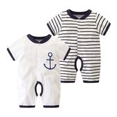嬰兒衣 初生嬰兒夏裝0-3個月寶寶哈衣純棉連體衣6薄款短袖新生兒衣服夏季 玩趣3C