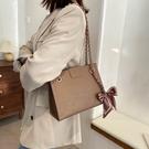 韓版磁扣手提包 女款單肩斜挎包 壓花法式女生托特包 女款簡約托特包 時尚卡通大容量女包大包