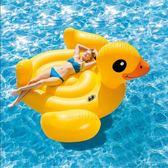 火烈鳥游泳圈 成人加厚充氣水上坐騎上浮床浮排氣墊 創想數位 DF