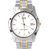 CASIO卡西歐 極簡刻度金線指針腕錶 不鏽鋼錶帶 品質穩定 柒彩年代【NEC101】