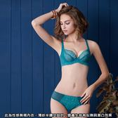 曼黛瑪璉-集中穩定性感無襯內衣  C-D罩杯(沁綠藍)