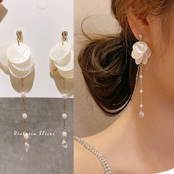 韓國優雅氣質 甜美.自然.氣質耳環-維多利亞190789