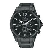 【僾瑪精品】ALBA 雅柏 ACTIVEC 大字俐落紳士計時錶-黑/VD53-X297SD(AT3D29X1)