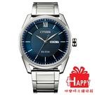 日本CITIZEN星辰 時尚光動能男腕錶 AW0081-89L 藍X銀