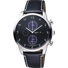 聖誕限定款 agnes b. 法國巴黎限定計時腕錶-黑/40mm V172-0AZ0C(BY6004P1)