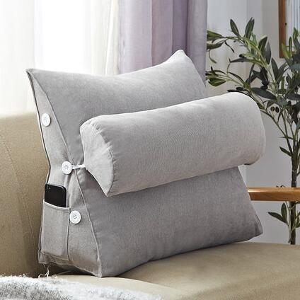 床頭靠墊軟包三角大靠背客廳沙發靠枕床上枕頭榻榻米腰靠 【米娜小鋪】