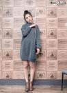 毛衣--輕熟女性保暖至上高領落肩袖反摺套頭素面長版針織毛衣(灰XL-3L)-A248眼圈熊中大尺碼