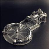 益智拼圖金屬拼圖圣彼得大教堂成人玩具益智手工拼裝模型禮物 貝兒鞋櫃