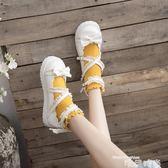 娃娃鞋原創蝴蝶結洛麗塔LOLITA大頭娃娃鞋森女學院風學生軟妹平底小皮鞋 唯伊時尚