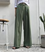 【全館8折】寬褲 港味休閒寬鬆顯瘦高腰闊腿褲