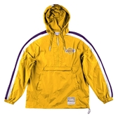 M&N MITCHELL&NESS NBA PACKABLE NYLON ANORAK 衝鋒衣 湖人 黃 男 (布魯克林) MN9BOU01LAL