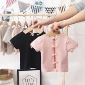 0-1歲女寶寶t恤洋氣短袖夏季新款露背純棉45歲透氣嬰幼兒女童上衣 滿天星
