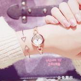 ins超火的少女心櫻花手錶女學生韓版簡約潮流ulzzang手鏈式小清新 金曼麗莎