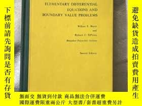 二手書博民逛書店elementary罕見differential equations and boundary value pro