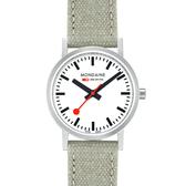 MONDAINE 瑞士國鐵Classic腕錶-30mm/霧銀 65816BG