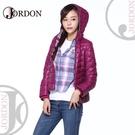 【JORDON 橋登 女 超輕羽絨夾克《紫紅》】441/羽絨外套/羽絨衣/保暖外套/連帽