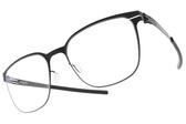 Ic! Berlin光學眼鏡 ICHIRO I. BLACK BLUE (霧黑) 率性低調經典框 薄鋼眼鏡 # 金橘眼鏡