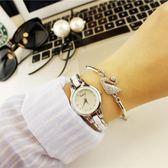 手錶女學生韓版簡約休閒大氣時尚潮流復古手鏈錶女士防水石英女錶QM『艾麗花園』