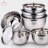 加深打蛋盆烘焙家用廚房帶蓋打發奶油碗不銹鋼揉面和面盆【快速出貨】