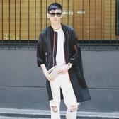 風衣外套-薄款防曬街頭時尚長版棒球領男大衣2色73ip6【時尚巴黎】