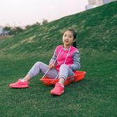 加厚成人兒童滑草板 滑沙板滑草墊滑雪板耐磨大號單板雪橇車爬犁YYP  傑克型男館