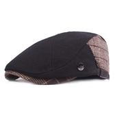 貝雷帽-溫暖毛呢英倫格子男女鴨舌帽73tv99【時尚巴黎】