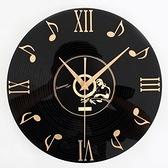 創意時鐘-立體音符黑膠唱片藝術壁鐘72z10【時尚巴黎】