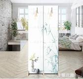 簡約現代屏風隔斷折疊移動玄關布藝客廳臥室小戶型時尚辦公室折屏QM『艾麗花園』