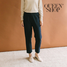 Queen Shop【04030250】車線設計修身西裝褲 兩色售 S/M*現+預*