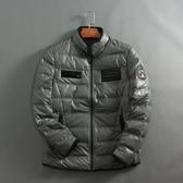 51SHOP 外貿原單 男士休閒立領仿皮羽絨服冬款保暖外套 16602