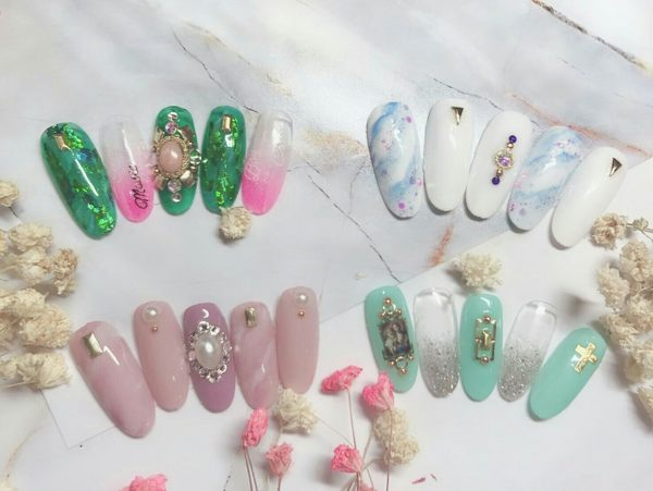 【艾莉娜藝術指甲】手部時尚雜誌熱門造型款輕厚凝膠20款選1