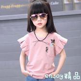 女童純色短袖T恤2018韓國夏裝新款中大童兒童純棉半袖圓領上衣潮  enjoy精品