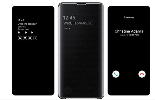 【免運費】Samsung Galaxy S10+ 原廠全透視感應皮套( 綠)