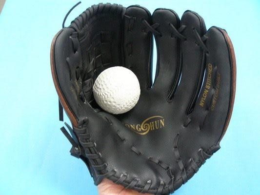 12吋棒球手套 + 軟式安全棒球/一組入{定450}~國中高中適用~群