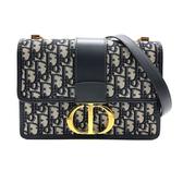 【台中米蘭站】全新展示品 Dior 30 Montaigne 經典緹花翻蓋蒙田包(藍)