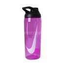 Nike 水壺 Hyper Charge Twist Cap 24oz 709ml 紫 白 大口徑水壺 防漏水瓶蓋 運動休閒 【ACS】 N100062265-024