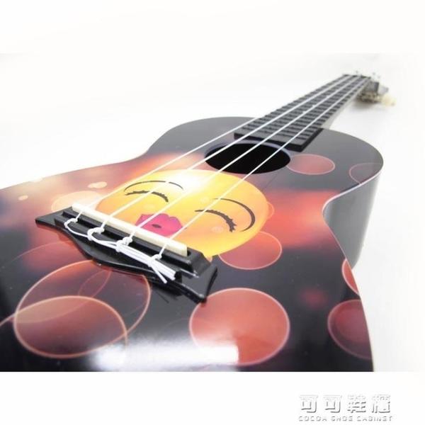 -彩色卡通24寸烏克麗麗烏克麗麗小四弦小吉他AUP-24-45YJT 流行花園