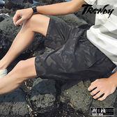 『潮段班』【HJ00K219】M-5L迷彩圖樣抽繩鬆緊腰夏季休閒短褲 五分褲 膝上褲
