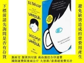 二手書博民逛書店Wonder奇跡男孩兩本套裝罕見原著小說+365天勵誌格言 wonder 365 Days of Wonder