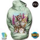 摩達客-(預購)美國The Mountain 貓咪哦耶 少年兒童版 連帽T恤