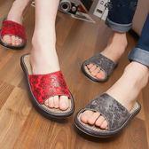 亞麻涼拖鞋女夏季情侶居家家用拖鞋